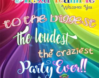 Trolls // Poster Board // Trolls Gang // Birthday Sign // Door Sign // Trolls Birthday // Crazier Party Ever