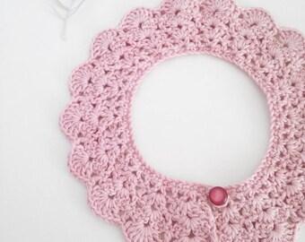 baby crochet collar, crochet necklace, baby photo props, children photo props, newborn girl gifts, baby necklace, pink crochet necklace