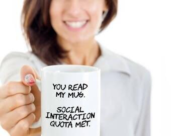 Introvert Mug, Social Anxiety Mug, Socially Awkward Gift, Socially Awkward, Social Anxiety Disorder, Novelty, Funny Mug, Novelty Mug