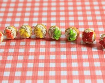 Fruit cake stud earrings