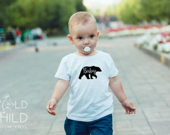 Baby Bear Shirt, Baby Bear T-Shirt, Baby Baby Bodysuit, Family Bear Shirts, Baby Shower Gift, New Baby Gift, Birthday Gift, Made to Order