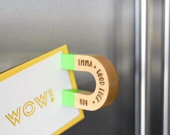 Personalised horseshoe magnet, couples gift, wedding gift, house warming gift, custom gift