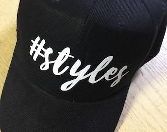 Styles baseball hat-#styles HARRY STYLES CUSTOM Hat