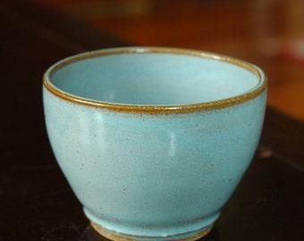 Small Ceramic Planter // Sky Blue Planter // Petite Pottery Planter