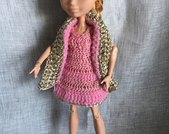 """Monster Ever after High - set dress and jacket sleeveless """"Pretty in pink!"""""""