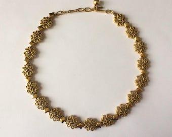 Vintage 1970's Avon Signed Gold Tone Statement Necklace