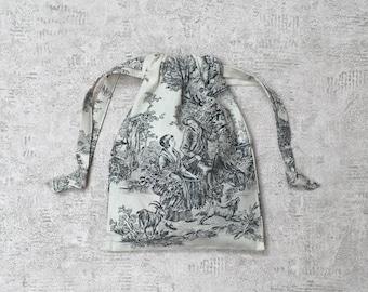 smallbags en tissu français vintage - tissu d'ameublement - 3 tailles, 4 couleurs