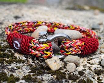 Stylish Red Bracelet, Stylish Mens Bracelet, Summer Bracelet, Boyfriend Gift, Cord Bracelet, Red Cord Bracelet, Colourful Cord Bracelet