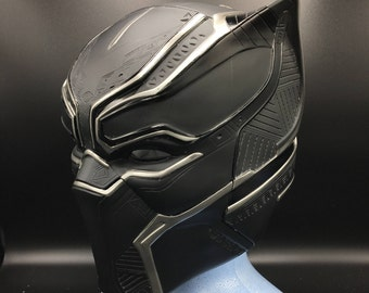 Black panther helmet Life-size scale  fully pattern detail , paint from marvel movies captain america civil war for collectables or cosplays