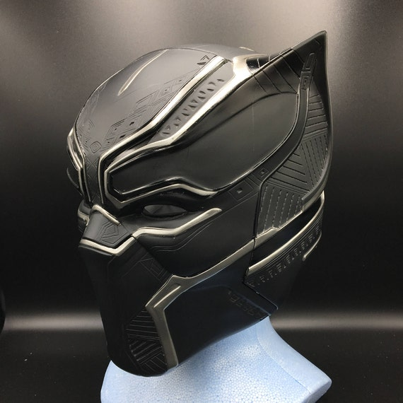 black panther helmet lifesize scale fully pattern detail