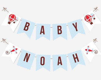 Baby Shower Birthday Printable Flag Banner Decoration - Precious Cargo