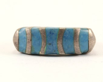 Vintage Turquoise Ring 925 Sterling Silver RG 2760