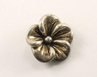 Vintage Flower Pendant 925 Sterling Silver PD 2283