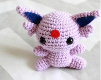 Espeon Crochet Pokemon Amigurumu Stuffed Doll