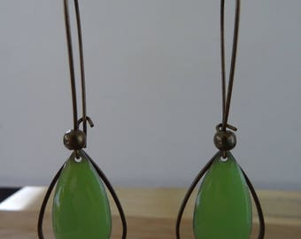 Drop EARRINGS Green