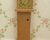 Vintage 1960s DolToi Wooden Grandfather Clock for the Dolls House