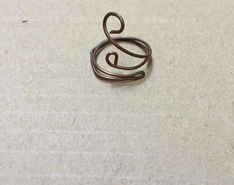 Large Swirls Ring