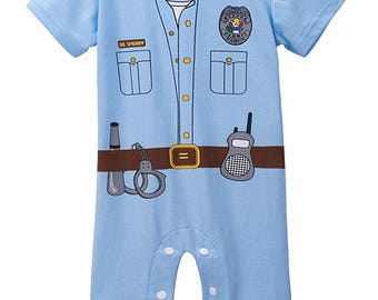 Back The Blue, Police, Law Enforcement, Police Babies, Baby Boy Romper