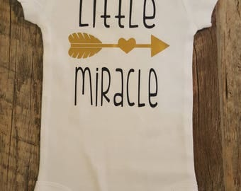 Unisex, Preemie and Up, Little Miracle Baby Onesie, Bodysuit, Perfect Baby Shower Gift