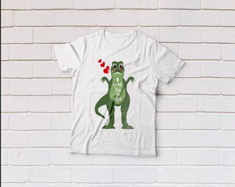 I love you svg, Dinosaur svg, Valentines day svg, T-Rex svg,  SVG Files, Cricut, Cameo, Cut file, Files, Clipart, Svg, DXF, Png, Pdf, Eps