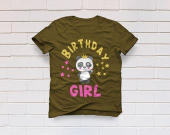 Birthday girl svg, Birthday svg, Birthday princess svg, Birthday shirt svg, Panda svg, Cricut, Cameo, Cut file, Clipart, Svg, DXF, Png, Eps