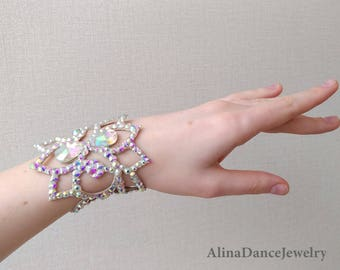 Ballroom bracelet, belly dance jewelry, ballroom jewelry, rhinestone bracelet, belly dance costume, dance sport, ballroom dress, competition