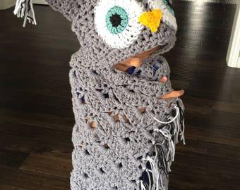 Hooded Owl Blanket
