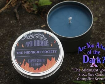 "Nickelodeon's Are You Afraid of the Dark ""Midnight Society"" Campfire Scented 8oz Soy Candle"