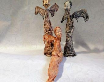 Angel Art Doll, Hand Made Doll, X-mas gift, Christmas