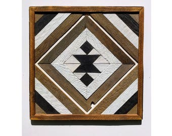 RECLAIMED WOOD wall art Navajo style made from barn boards