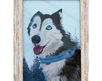 Digital Custom Pet Portrait - Dog Portrait, Cat Portrait, Animal Portrait, Pet Art, Cat Art, Dog Art