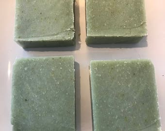 Cucumber Basil Melon Soap  Cold Process Old Fashioned Handmade Natural Soap