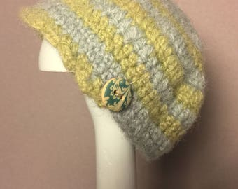 Unique, hand-crafted, OOAK Sweet Moss doll hat