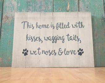 Dog Sign - Love is a Four Legged Word - Dog Lover Gift - Dog Lover - Pet Decor - Dog Name Sign - Dog Home Decor - Dog Decor - Dog Quotes