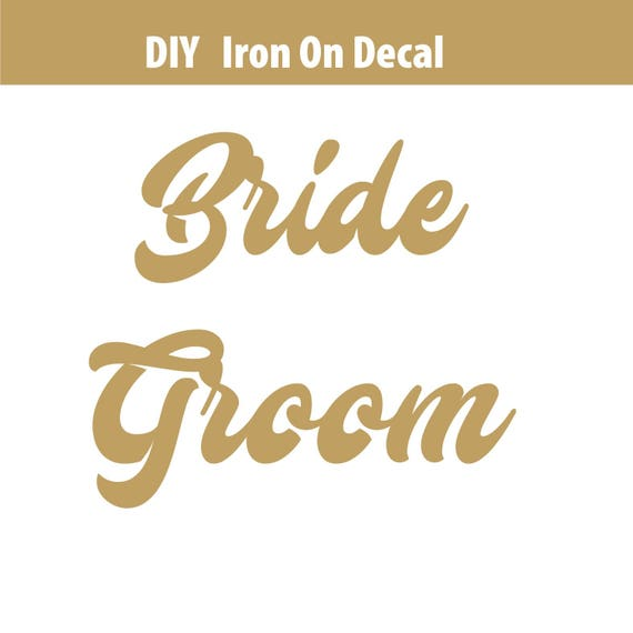 Bridal party iron on decals diy heat transfer vinyl decal for Heat press decals for t shirts