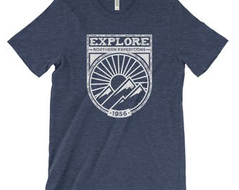 Explore Northern Expeditions Adventure Unisex Bella Canvas Tee