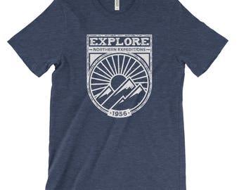 Explore Northern Expeditions Adventure Unisex Bella Canvas Tee