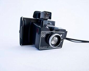 polaroid land camera, colorpack 88