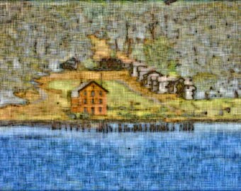 Camp Reynolds on Angel Island, San Francisco Bay - Digitally Enhanced 8x10 Photo Print
