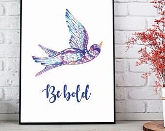 Be bold print, Boho nursery decor, Boho bird, Bohemian decor, Tribal nursery art, Baby room decor, baby gift, Playroom decor, Baby art