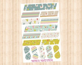 NEW Lama Washi Strips & Drops // Happy Planner // Erin Condren //Personal