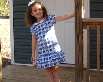 On Sale-Size 6, Child's Dress with Ruffled Skirt (Child's Dress Only-Ready To Ship)