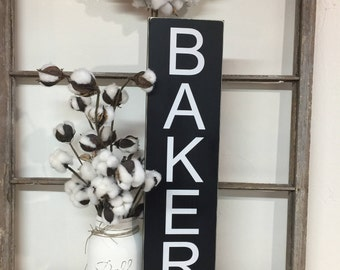 Black and White Kitchen Bakery Sign, Country Bakery Sign, Subway Bakery Sign, Kitchen Bakery Sign, Kitchen Sign, Farmhouse Bakery Sign