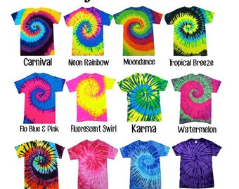 Tie Dye T-Shirts Short Sleeve ADULT - No two are alike!