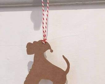 Schnauzer Gift Tag/Christmas - PACK OF FIVE