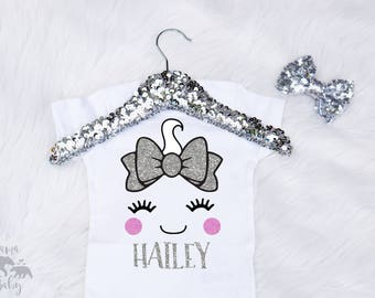 Baby Girl's Halloween Ghost Onesie - Ghost Shirt - Personalized Halloween Onesie - Ghost Halloween Shirt - Toddler Ghost Costume