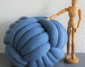Pillow bow knotpillow blue denim, 5 branches