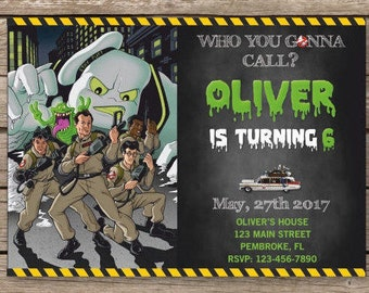 Ghostbusters Invitation, Ghostbusters Birthday Invitation, Ghostbusters Birthday, GhostBusters Birthday Party, Ghostbusters Invites