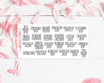Holiday Planner Stickers (AUS)