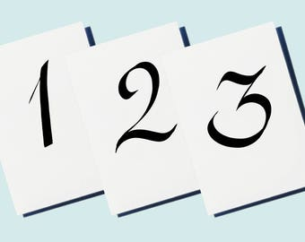 Table Numbers Signage for Wedding or Event